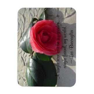 Single Rose Rectangular Photo Magnet