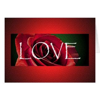 Single Rose Valentine's Day Card