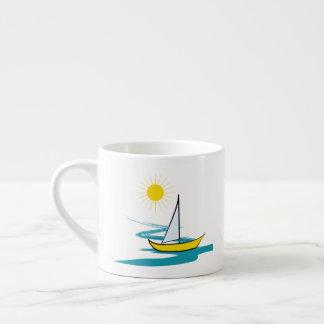 Single sailboat espresso cup