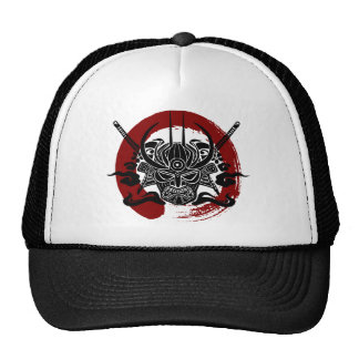 Single Samurai Enso Blood Circle Trucker Hat