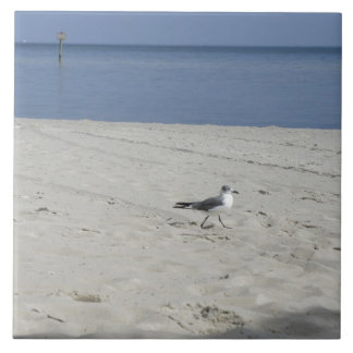 Single Seagull Ceramic Tile