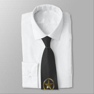 Single Sheriff Badge Tie