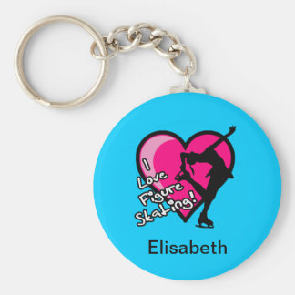 Single Skater, blue - Add Your Name KeyChain