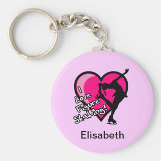 Single Skater, Hot Pink - Add Your Name KeyChain