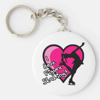 Single Skater, Hot Pink & Black Keychain