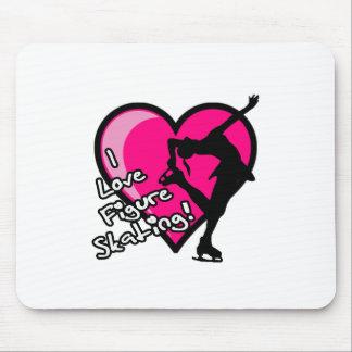 Single Skater, Hot Pink & Black Mouse Pad