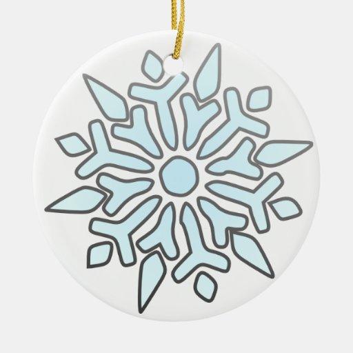 Single Snowflake Christmas Ornament