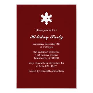 Single Snowflake Monogram Invitations