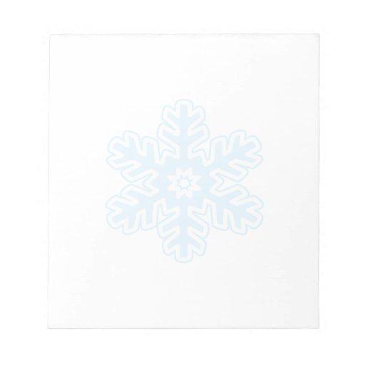 Single Snowflake Notepads