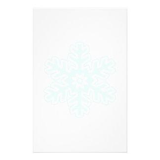 Single Snowflake Custom Stationery