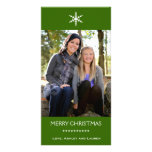 Single Snowflake with Customizable Colors Photo Card