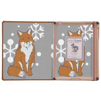 Single Snowy Winter Red Fox Pattern
