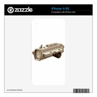 Single spaceship on white background skins for the iPhone 4