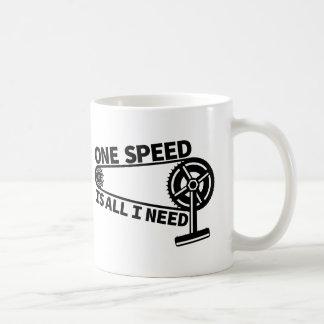 Single speed / fixed gear bicycle crankset coffee mug