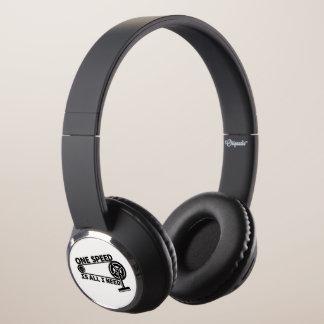 Single Speed Fixed Gear Bike Headphones