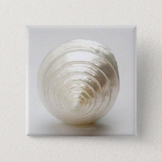 Single spiral seashell pinback button