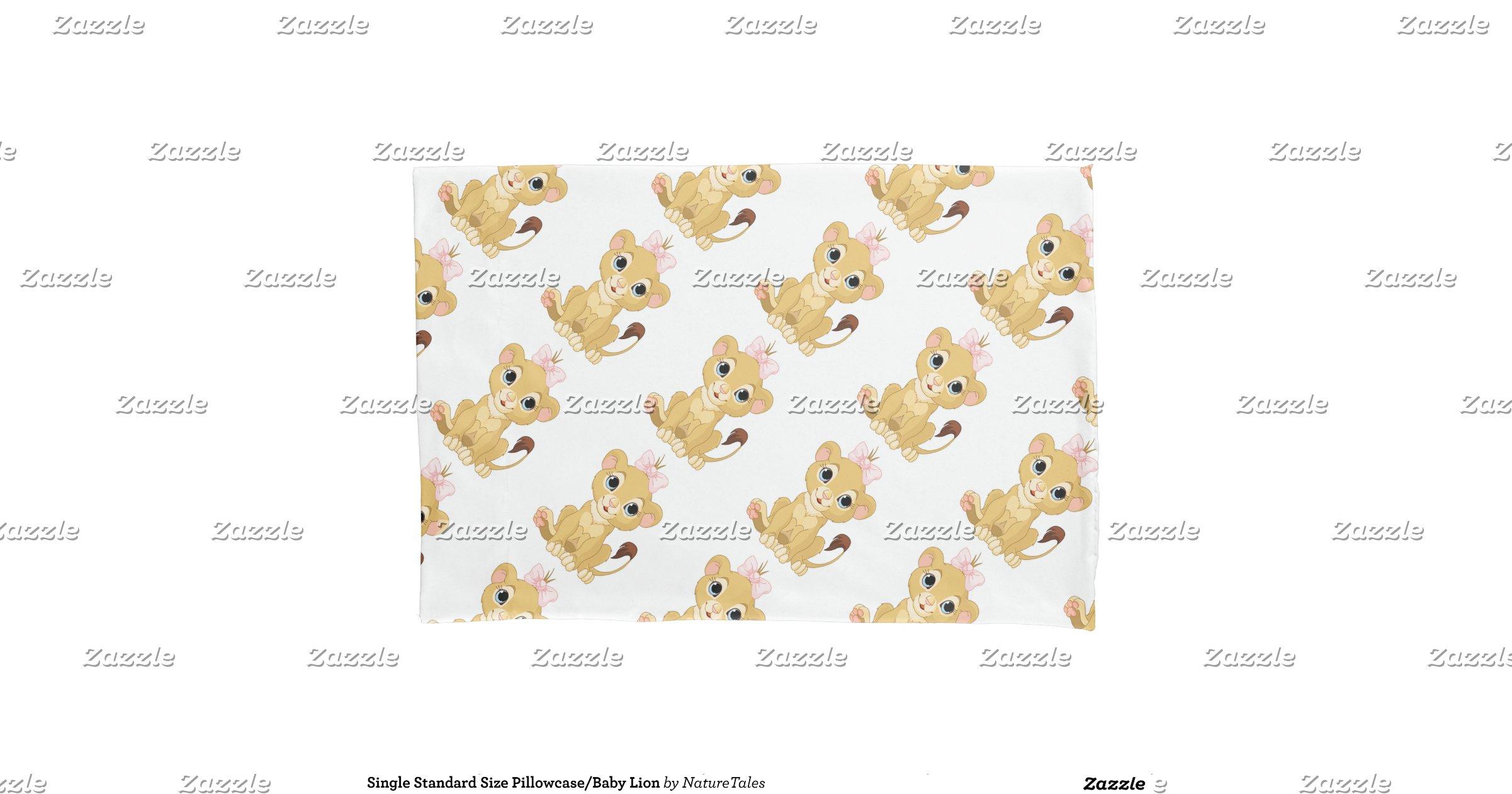 single standard size pillowcase baby lion pillowcase zazzle. Black Bedroom Furniture Sets. Home Design Ideas