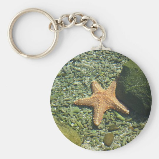 Single Starfish Keychain