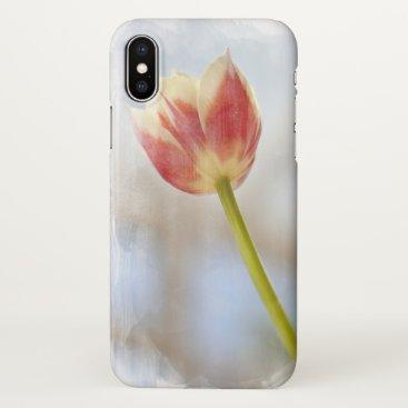 single stem tulip flower iPhone x case