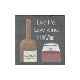 Single Stone Live Life Love Wine Magnet Stone Magnet