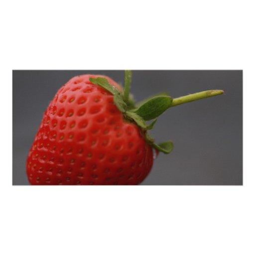 Single Strawberry Photo Card