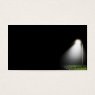 Single street light at night - business card