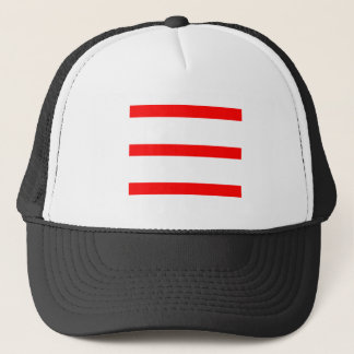 Single Stripe - Red on White Trucker Hat