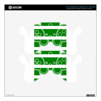 Single Stripe - White on Green PS3 Controller Decals