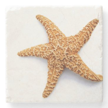 Beach Themed Single Sugar Starfish Stone Coaster