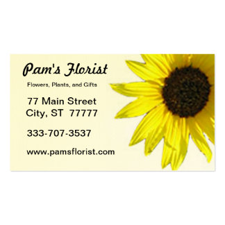 Single Sunflower Bloom Business Card