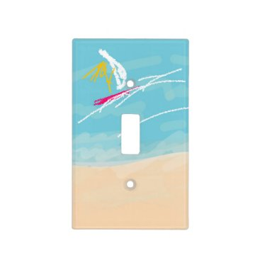 "shorecliff Single switch plate ""I Love Summer"""