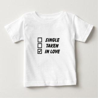 Single, taken, into love shirts