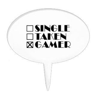Single Taken or Gamer Cake Topper