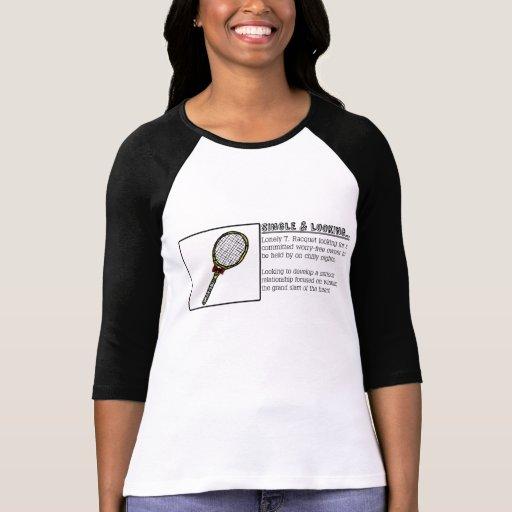 Single Tennis Raquet Ad T-shirt
