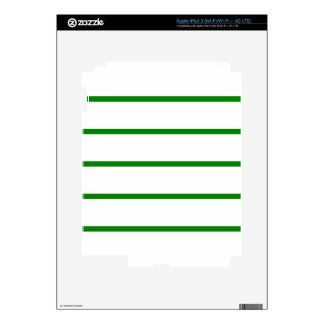Single Thin Stripe - Green on White iPad 3 Decal
