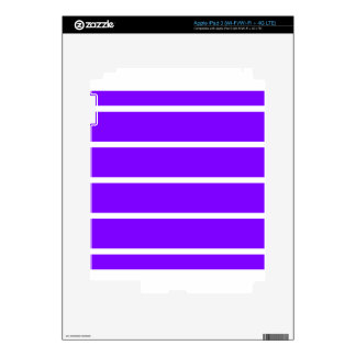 Single Thin Stripe - White on Violet Decal For iPad 3