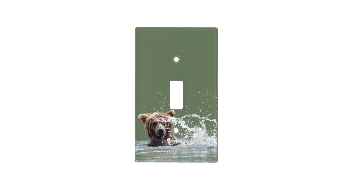 single toggle switch of grizzly bear light switch cover | Zazzle.com