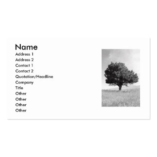Single Tree Business Card