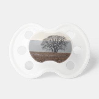 Single Tree in Field Pacifier
