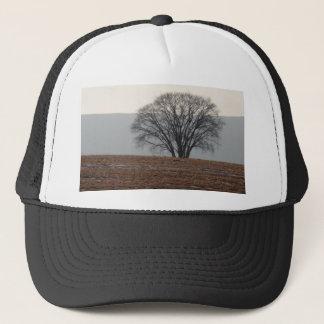 Single Tree in Field Trucker Hat
