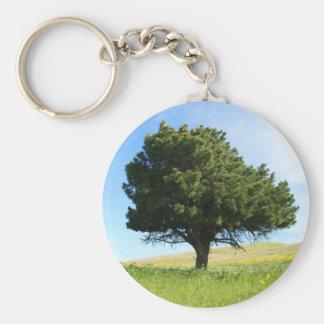 Single Tree Keychain