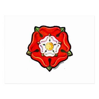 Single Tudor Rose Postcard