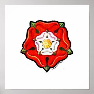 Single Tudor Rose Poster
