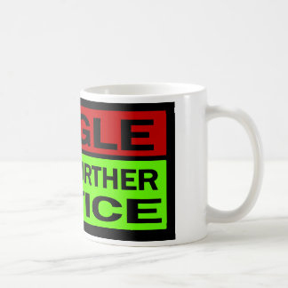 Single Until Further Notice, Red And Green Coffee Mug