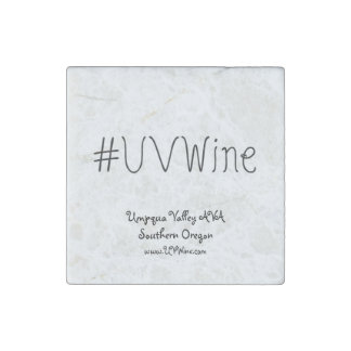 Single UVWine Stone Magnet Hashtag Collection