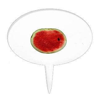 single watermelon slice graphic cake topper