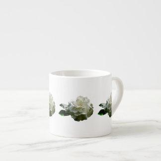 Single White Camellia Espresso Cup