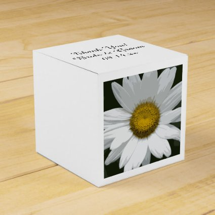 Single White Daisy Wedding Favor Box