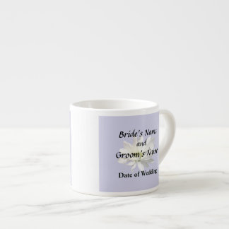 Single White Daisy Wedding Products Espresso Cup