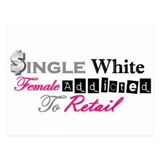 Single White Female Addicted To Retail Postcard